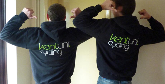Kent University Cycling Hoodies
